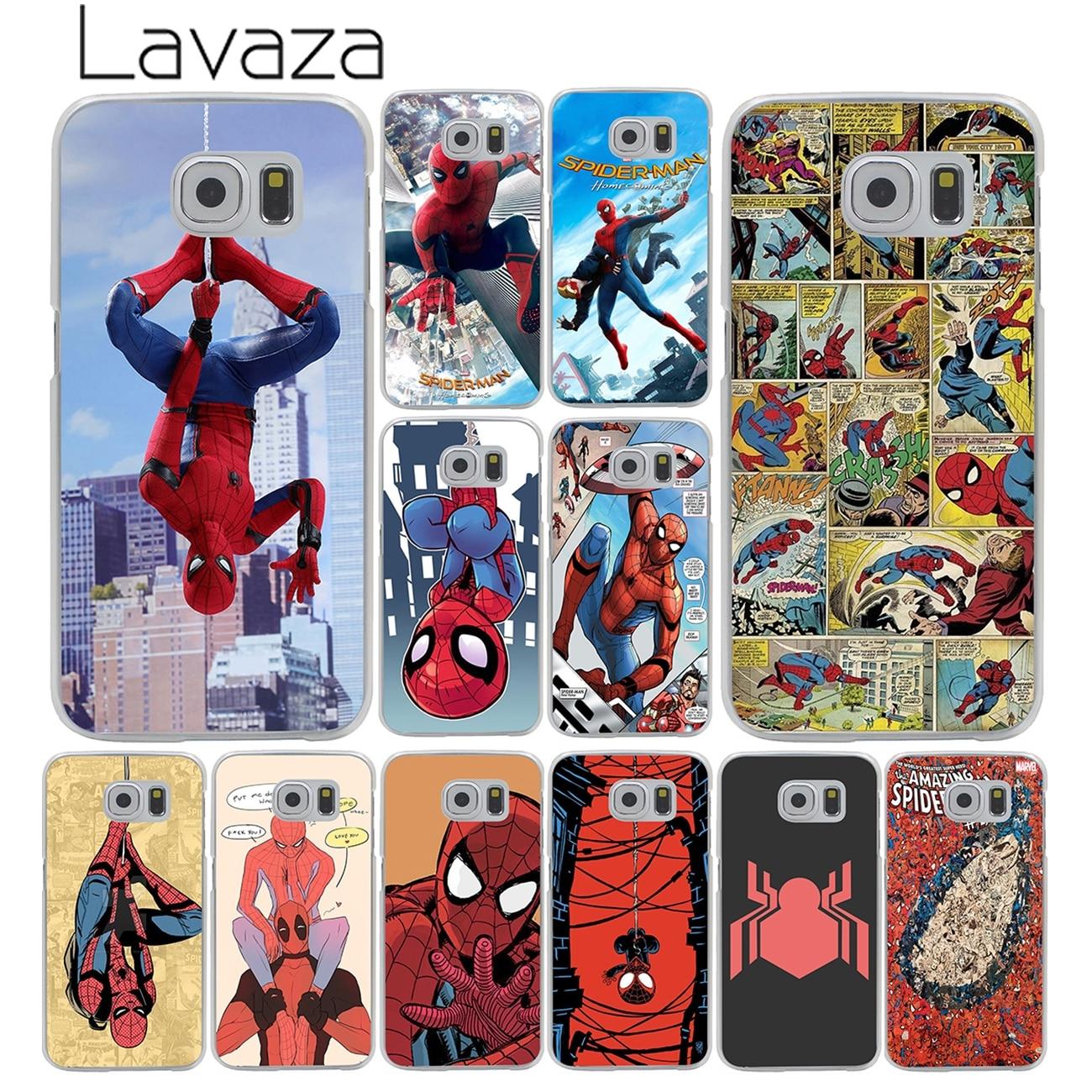 Lavaza <font><b>Spider</b></font>-<font><b>Man</b></font> Marvel <font><b>Spider</b></font> <font><b>Man</b></font> Homecoming <font><b>Comics</b></font> Hard for <font><b>Samsung</b></font> <font><b>Galaxy</b></font> S6 S7 S8 Edge Plus S5 S4 S3 & <font><b>Mini</b></font> Case