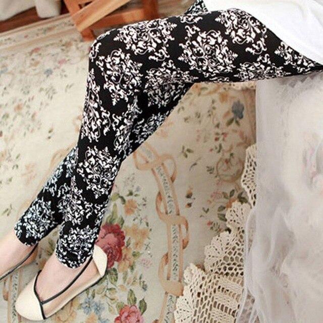 Hoang dã hợp thời trang houndstooth totem skinny sứ legging thanh màu đen sữa silk xà cạp thời trang phụ nữ slim leggins
