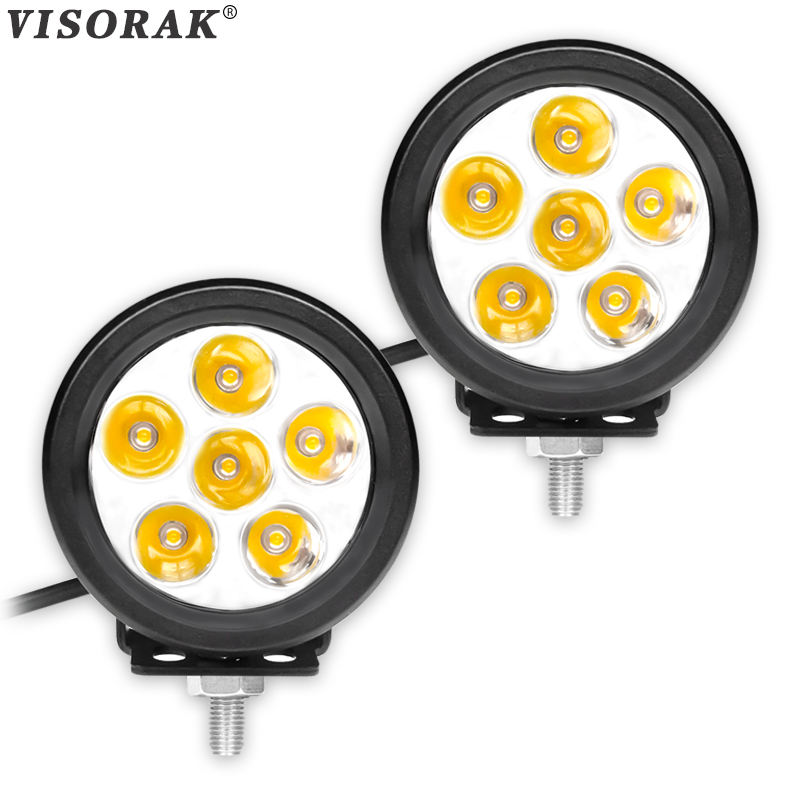 VISORAK 2pcs Spot 30W Offroad LED Beams 24V 12V ATV LED Light For Car Tractor Boat 4WD 4x4 Truck SUV ATV Driving Work Light Bar
