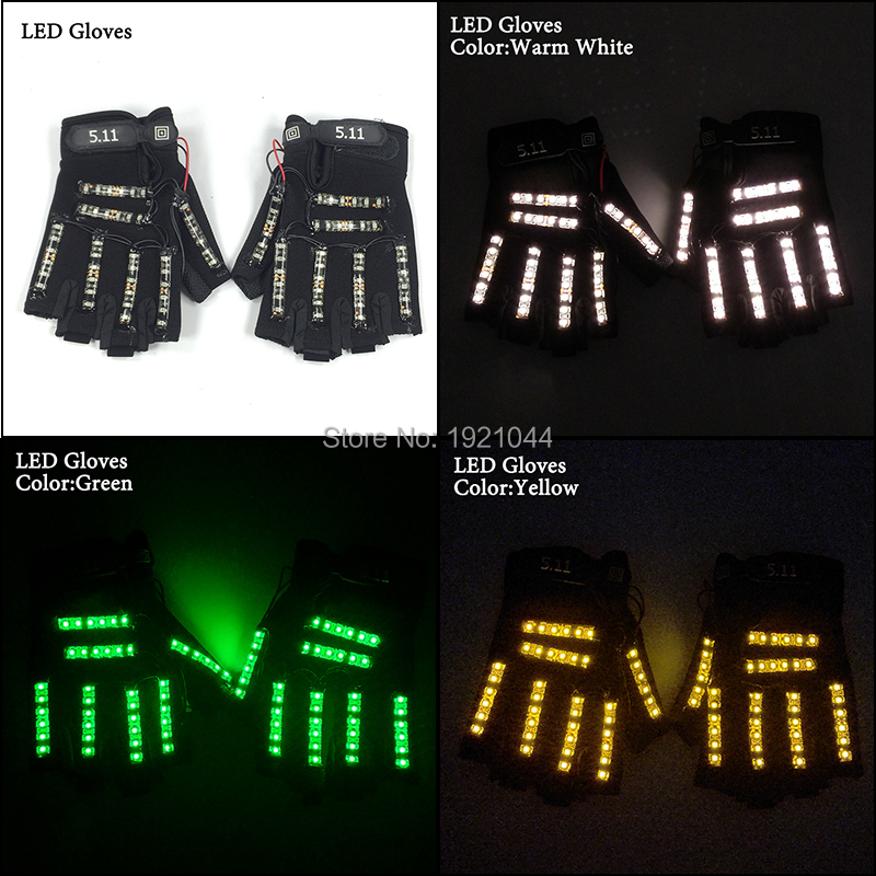 Free Shipping 6 Colors 1pair(=2pcs) Led Gloves Stage Show Props LED Light up Gloves Glow Party SuppliesFree Shipping 6 Colors 1pair(=2pcs) Led Gloves Stage Show Props LED Light up Gloves Glow Party Supplies