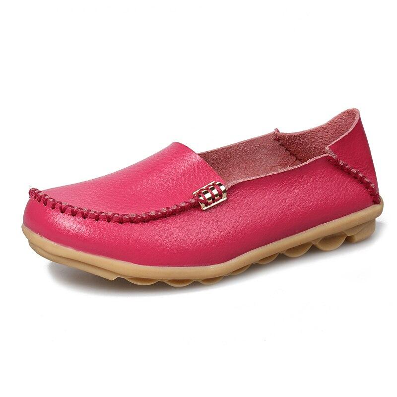 Women Shoes Genuine Leather Sneakers  Women Loafers Slip On Woman Flats Shoe Low Heel Moccasins Footwear
