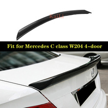 цены Carbon Fiber Rear Trunk Spoiler Wing Lip for Mercedes-Benz C-Class W204 C180 C200 C250 C300 C63 Sedan 4-door 2008-2014