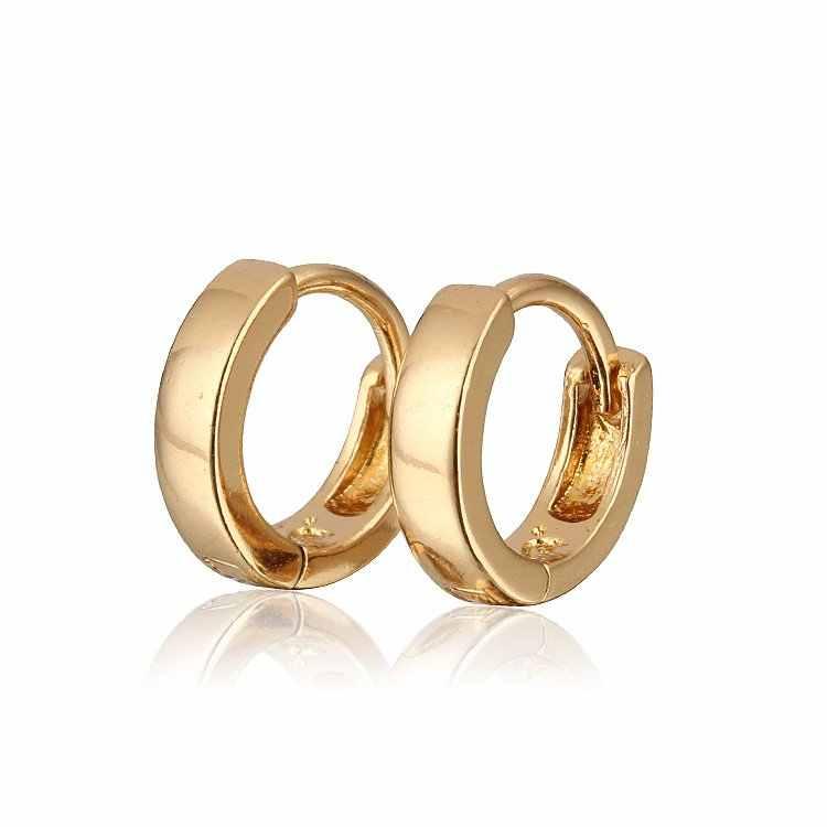 e9dbeafbc281 ... Pendientes de aro de oro para niños bebé Oorbellen Aretes Ninas Brincos  Ouro Boucles Bijoux Bebe ...