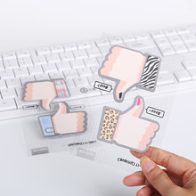 1 Set Stationery Korean Kawaii Thumbs Up Memo Pad Sticker Cute Praise Gift School Office Supplies(China)