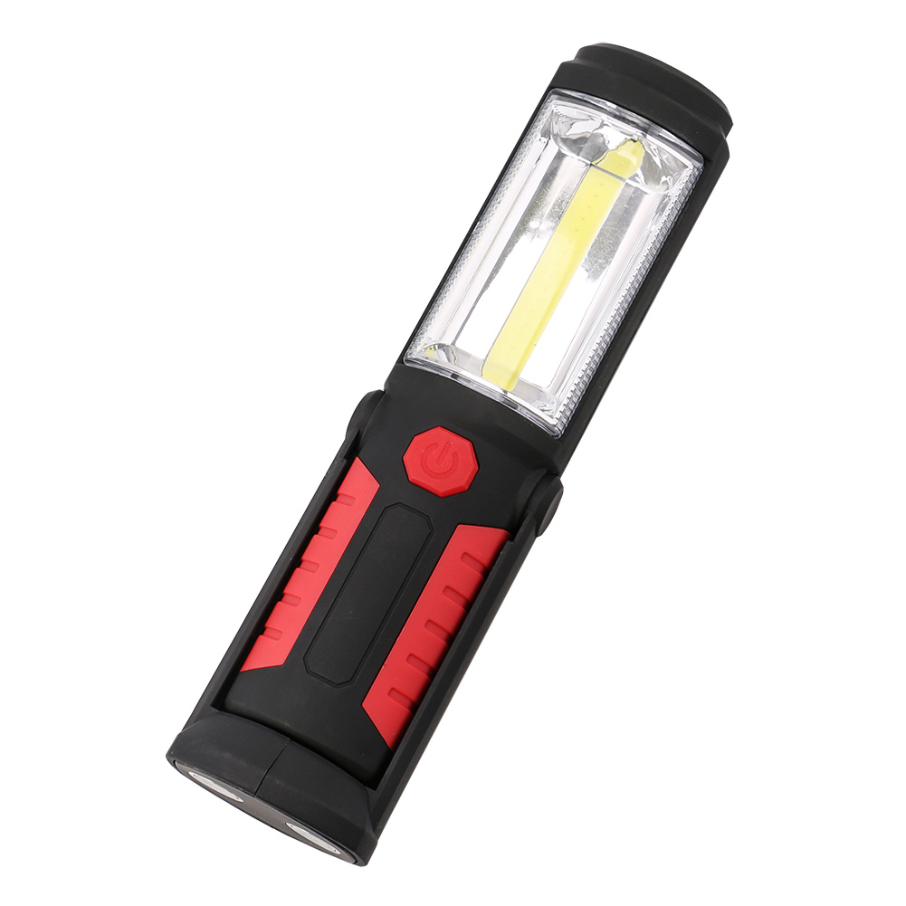 Portable Flashlight Torch COB LED Work Light Magnetic Battery FlashLight Super Bright Pen Pocket Lights Torch Chip Flash Light in LED Flashlights from Lights Lighting
