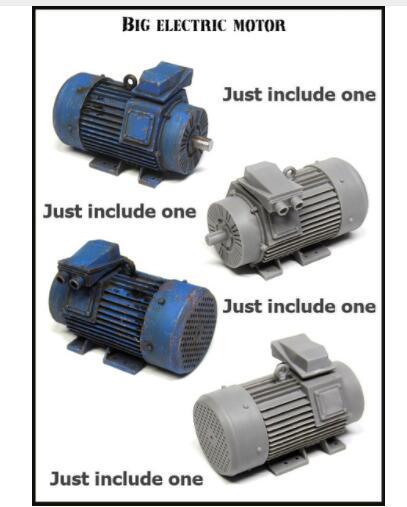 1/35 Big Electric Motor Accessories   Resin Model Miniature  Figure Unassembly Unpainted
