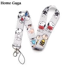 Homegaga cartoon dog diy lanyards neck straps phones keys bags cameras id card holders keychain webbing ribbons D1877