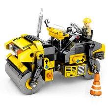 SEMBO Creator Expert Technique Road Roller Building Blocks Engineering City Bricks Technic Construction Car Kids kit Toys