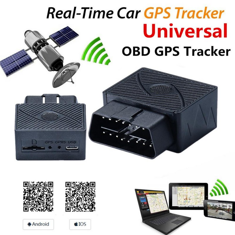 16Pin OBD Car GPS Tracker Auto GSM GPS Locator Support GPRS Anti-theft Protection Alarm Electronic Fence Auto GPS Tracker