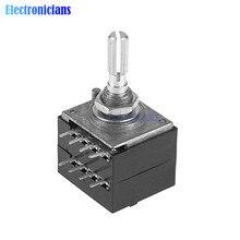 Diymore поворотный потенциометр ALPS RH2702 A100K 100K 50K двойной 8 футов потенциометр стерео динамик потенциометр громкости усилителя