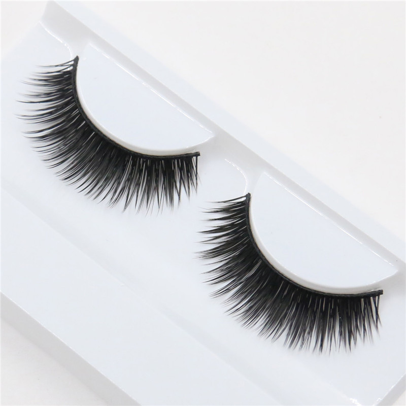 a pair exaggerated thick fashion long fake eyelashes