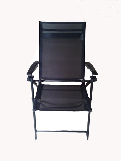 Fashion Leisure Outdoor Folding Chair Metal Garden Chair, Mesh Outdoor  Chair Metal Legs