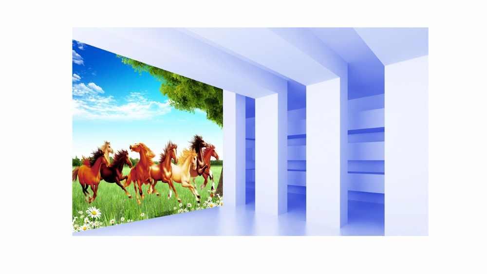 Домашние текстильные шторы креативные удлиняющие окна затемненные шторы большие украшения лошади занавески для спальни