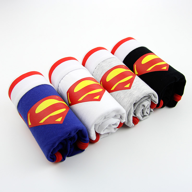 Superman Combed Cotton Breathable Low-waist Men Underwear Marval Cartoon Men Cueca Boxer Hombre Student Sexy Movie Men Underwear #3