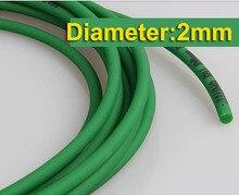 10Meters/Lot  Diameter:2mm Green PU Industrial Round Belt Conveyor Belt 10meters lot diameter 2mm pu industrial round belt drive conveyor belt