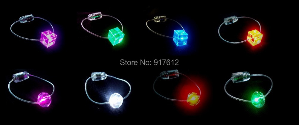 Led Crystal Pendant Luminous Necklace Suitable for Camping Party Banquets Concerts Bars and Other Places to Use at Night