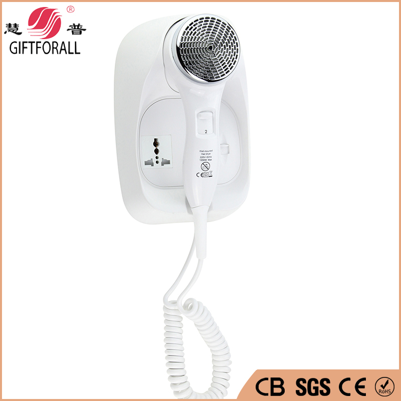 GIFTFORALL Plastic Hotel Electric Hair Dryer Bath Hair Drier Retail Skin & Hair Body Dryer Wall Mounted Electronic RCY-67888C