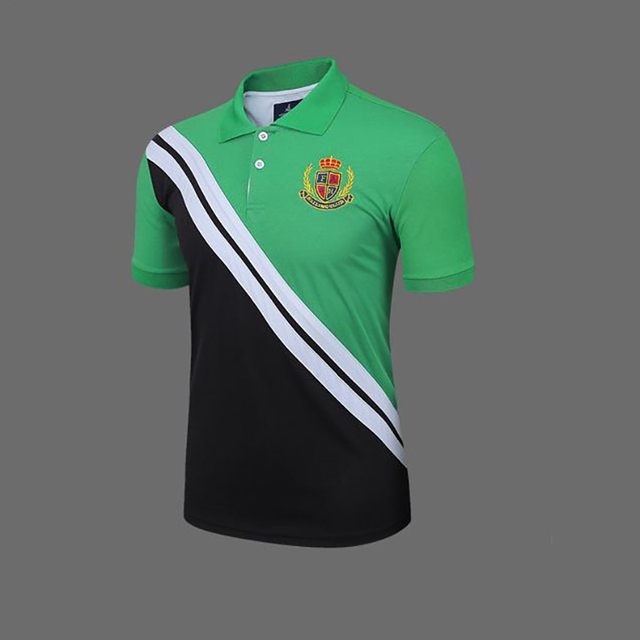 2015 New Fashion Custom Logo Men Solid Polo Shirt Short Sleeves