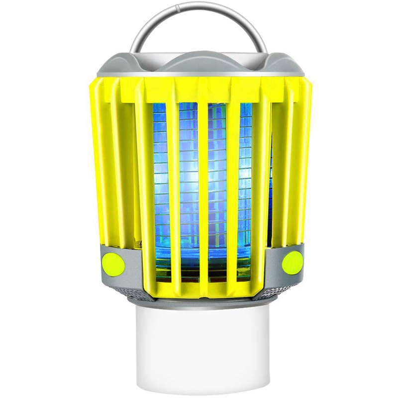 Camping Lantern With Bug Zapper,Ip67 Waterproof 4 Lighting Modes Dimmable Usb Rechargeable For Home,Camping,Hiking,Fishing,Eme