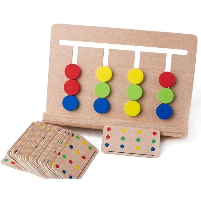 Детские Игрушки Монтессори Четыре Цвета Игры Color Matching для Дошкольного Образования Дошкольное Обучение Обучающие Игрушки
