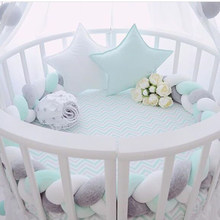 ec35b22b6cf Baby Knot Bed Bumper Weaving Plush Crib Cradle Protector Guard Toddler Pillow  Cushion Photo Props Bed Sleep Bumper