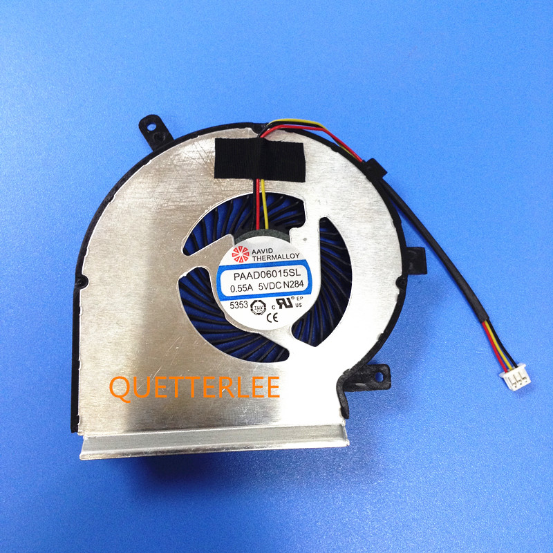 New CPU Cooling Fan For MSI GE72 GE62 PE60 PE70 GL62 GL72 CPU FAN PAAD06015SL 3pin CPU COOLER laptop cpu cooler fan for inspiron dell 17r 5720 7720 3760 5720 turbo ins17td 2728 fan