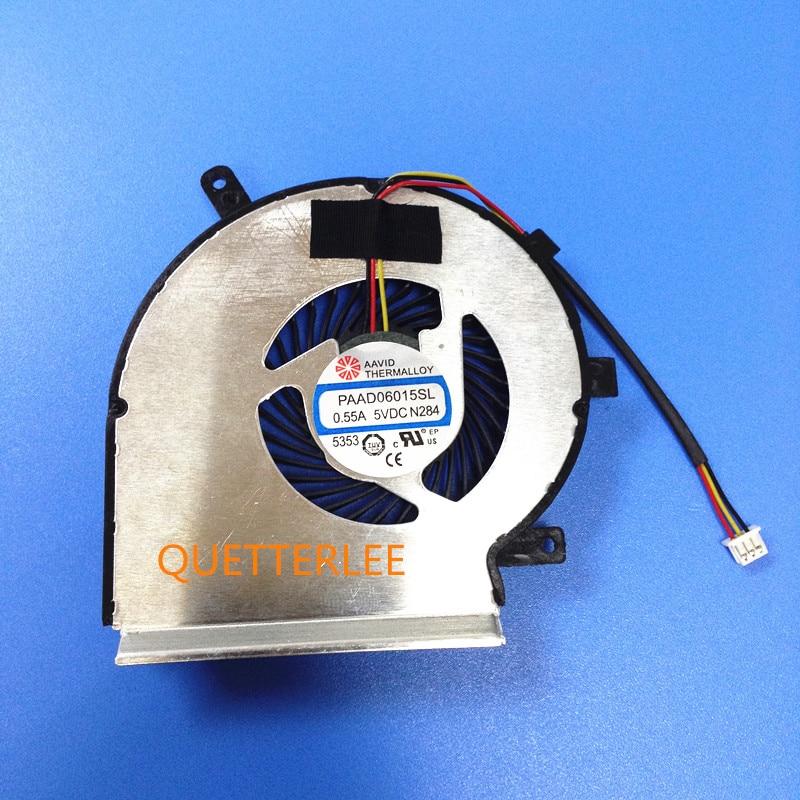 New CPU Cooling Fan For MSI GE72 GE62 PE60 PE70 GL62 GL72 CPU FAN PAAD06015SL 3pin CPU COOLER