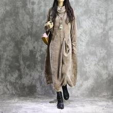 Женское весеннее одноцветное свободное платье в стиле ретро размера плюс, женское винтажное платье в стиле пэчворк