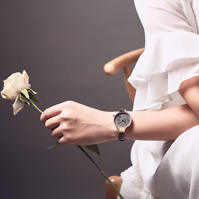 5e4d4a54bcf NAVIFORCE Women Watches Top Brand Luxury Fashion Female Quartz Wrist Watch  Ladies Leather Waterproof Clock Girl