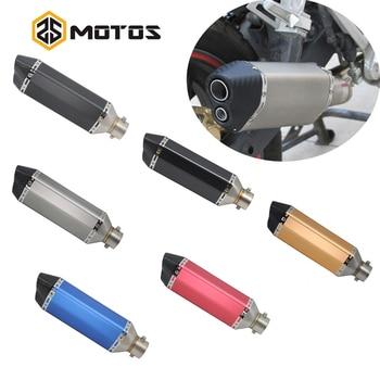 ZS MOTOS 38-51mm Universal Motocross  Street Bike Muffler Exhaust  Scooter/ATV/Quad Stainless Steel Motorcycle Dirt Bike