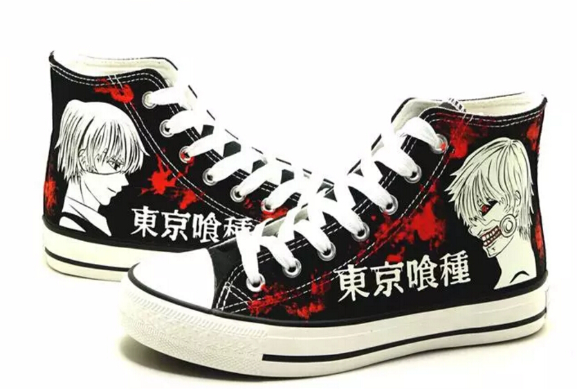 Tokyo Ghoul Cosplay Canvas Shoes Casual Shoes Men And Women Student Shoes Size 35-43