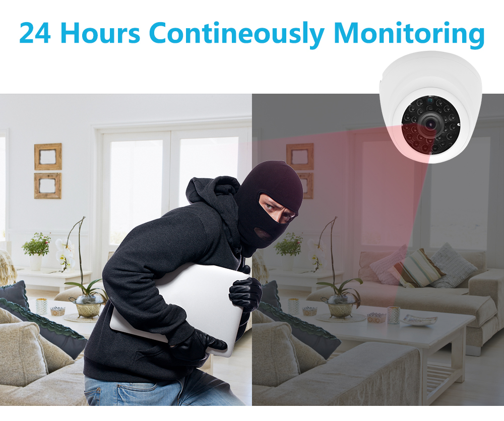 Wistino 1080P 4pcs IP Camera CCTV Security System Kit Night Vision 8CH NVR Recorder Surveillance Monitor Kits H.265 XMeye 720P 960P (7)