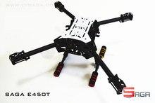 DIY FPV drones SAGA E450-T FPV folding 3K pure carbon frame with landing gear support X4 / X8 model