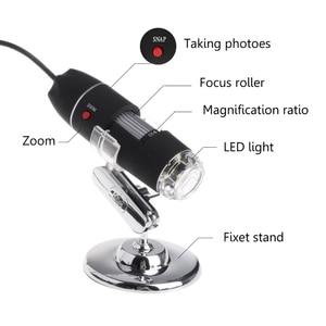 Image 5 - 8LED 1600x USB dijital mikroskop elektronik mercek ışığı biyolojik büyüteç endoskop kamera Video standı