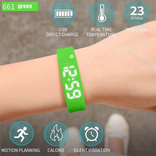 Zgo Multiple Functional Smart Watch Fitness Sleep Monitoring Waterproof Pedometer LED Digital Wristwatches Bracelet Men Women.