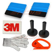 8 Tint Tools Kit Magnets Felt Scraper 3M Wool Squeegee Vinyl Cutter Gloves car wrap tools