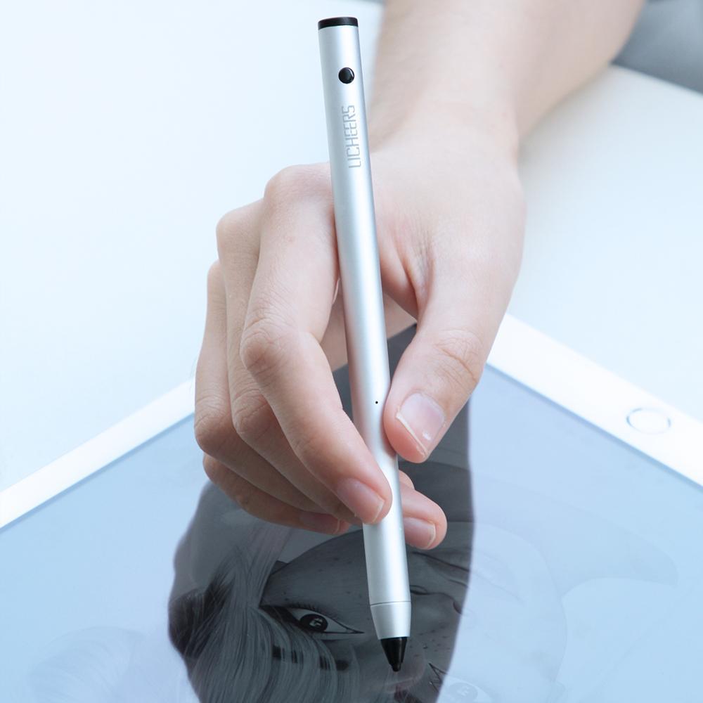 lingchen Auto Sleep adjustable micro USB charging metal stylus Touch Pen 6