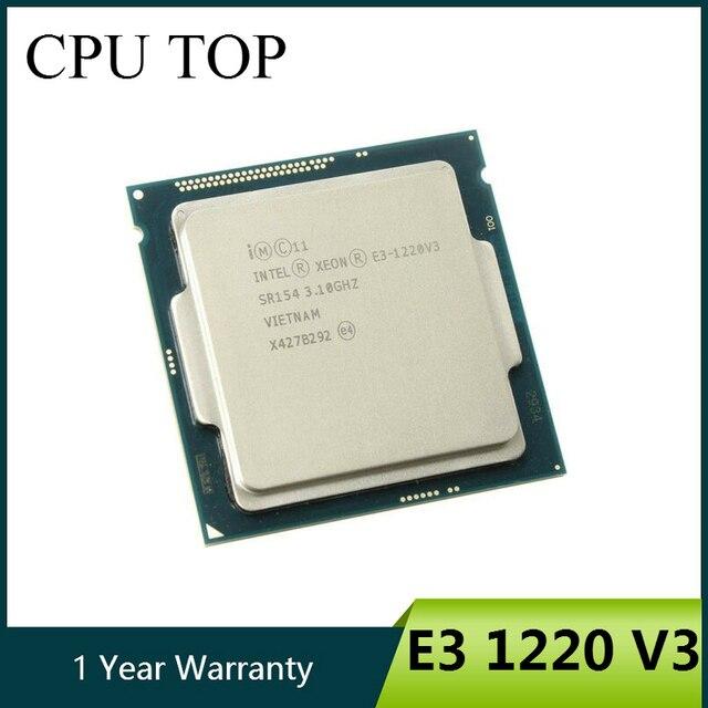 インテル xeon E3 1220 V3 3.1 ghz の 8 メガバイト 4 コア SR154 LGA1150 cpu プロセッサ