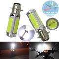 2 UNIDS de Alta Potencia MAZORCA Lámparas de Freno Con La Lente 12 V 6000 K H6M P15D 25 W 1000LM Blanco luces de Conducción de motocicletas Cabeza Luces de Freno Luz