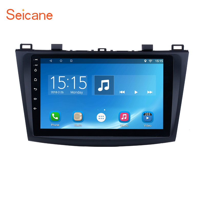 Seicane Android 6.0 Car GPS Navigation Radio Multimedia Player for 2009 2010-2012 MAZDA 3 9