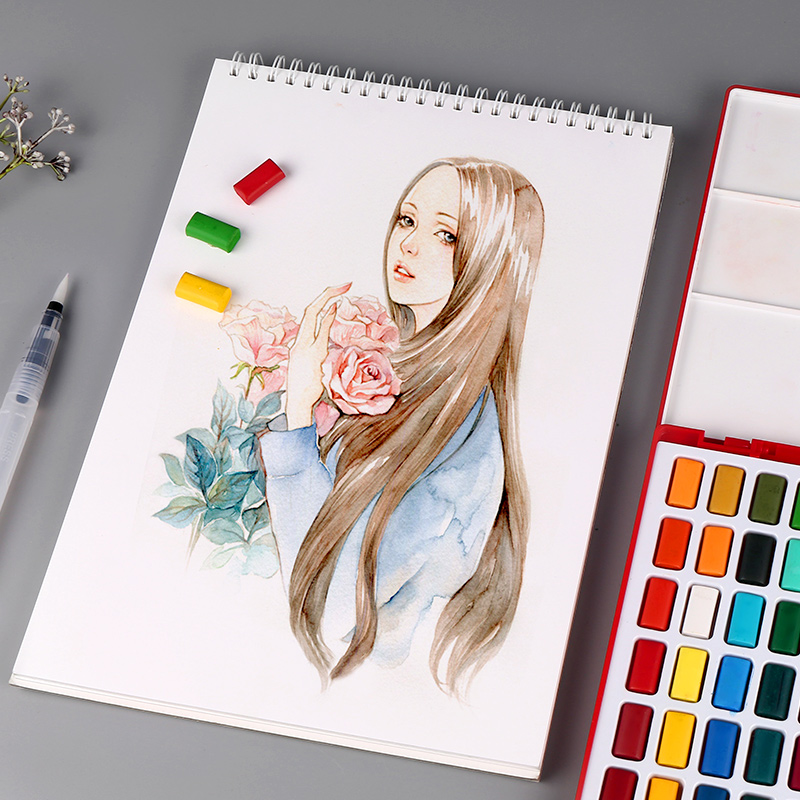 Faber-Castell 24/36/48Color Solid Watercolor Paint Box With Paintbrush Bright Color Portable Watercolor Pigment Set Art Supplies faber castell 24 36 48color solid watercolor paint box with paintbrush bright color portable watercolor pigment art supplies