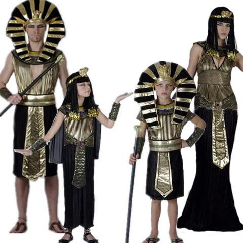 Ancient Egypt Fancy Dress Medieval Rome Egypt Queen Princess Pharaoh Costume Kids Men Women Halloween Cosplay Costume