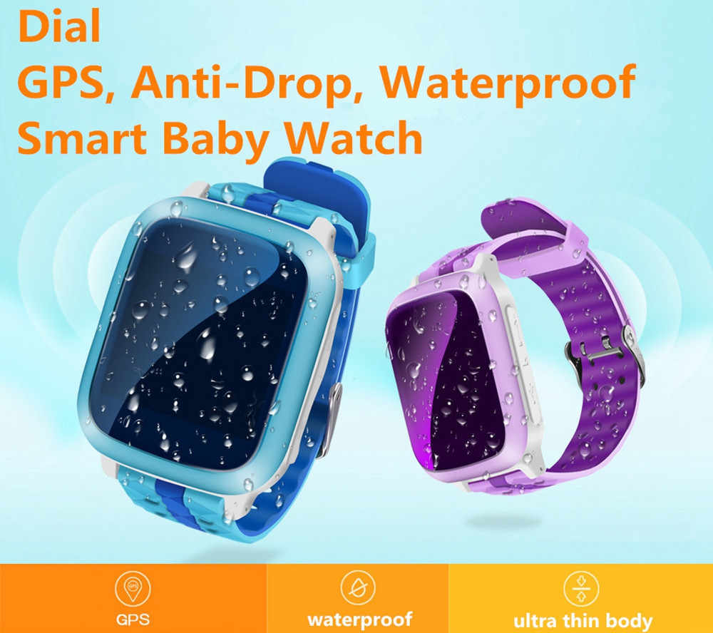 Kids Watches GPS/SOS Call Smart Watch Children's Positioning Waterproof Anti-drop Super-Long Standby boys' Watch for IOS Android