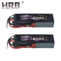 2pcs HRB 2S 7.4V 6000mAh 60C Lipo Battery RC Parts Hard Case T XT60 Deans EC5 XT90 TRX For Traxxas TRX4 Buggy Cars Airplane Boat