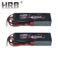 2pcs HRB 2S 7.4V 6000mAh 60C Lipo Battery RC Parts Hard Case T XT60 Deans EC5 XT90 TRX For Traxxas TRX4 Buggy Cars Airplane Boat