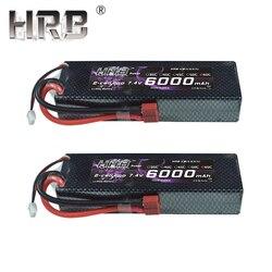 2pcs HRB 2S 7.4V 6000mah 60C Lipo Batteria RC Parti di Caso Duro T XT60 Deans EC5 XT90 Per Traxxas TRX4 Buggy Auto FPV Aereo Barca