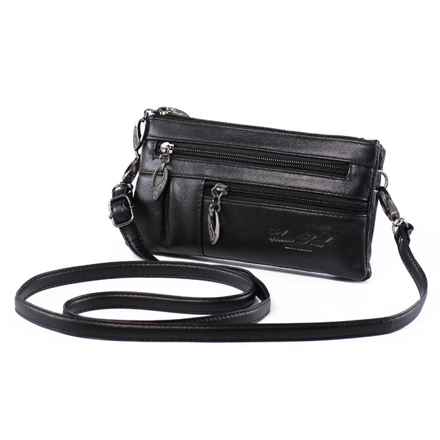 Katloo Women S Genuine Leather Multi Pocket Small Cross Body Purse Shoulder Bag Wristlet Handbag