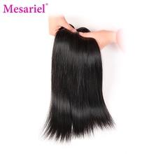 Mesariel Peruvian Straight Hair 100 Human Hair Weave Bundles Natural Black Color 10-28inch Non-Remy Hair Free Shipping