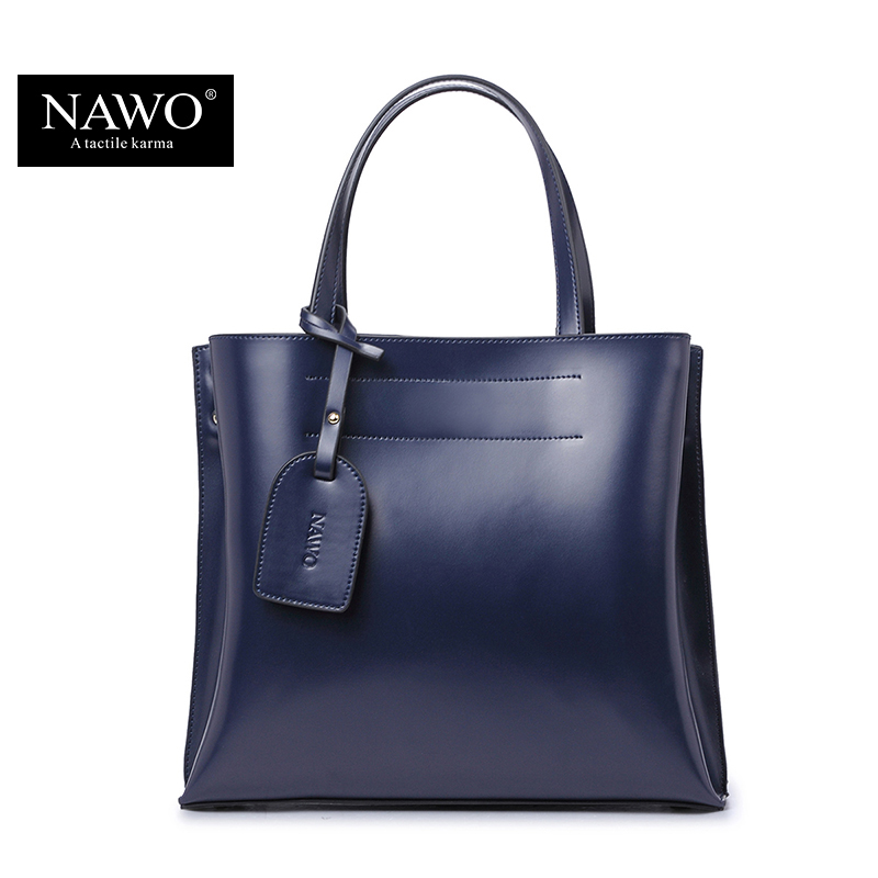 NAWO Women Shoulder Bags Shopping Famous Brand Luxury Women Designer Handbags High Quality Brand Leather Tote Bag For Women chispaulo women genuine leather handbags cowhide patent famous brands designer handbags high quality tote bag bolsa tassel c165