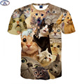 Mr.1991 3D Animal t-shirt for boys and girls Funny magic kute kitten A variety of animal printed big kids t shirt  hot sale A1